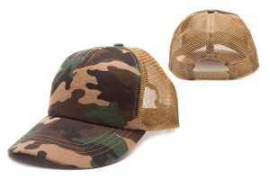 5-Panel Camouflage Mesh Back with Plastic Closure