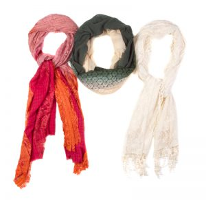 Cotton and Infinity Loop Scarves