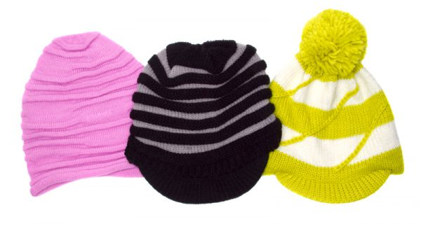 Knit Beanies with a Visor